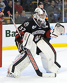 Chris Rawlings (NU - 37) - The Northeastern University Huskies defeated the Boston University Terriers 3-2 in the opening round of the 2013 Beanpot tournament on Monday, February 4, 2013, at TD Garden in Boston, Massachusetts.