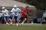 2013 March 02: Jesse Bernhardt #36 of the Maryland Terrapins during a game against the Duke Blue Devils at Koskinen Stadium in Durham, NC.  Maryland won 16-7.