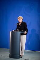 Bundeskanzlerin Angela Merkel (CDU) empf&auml;ngt am Mittwoch (17.09.14) in Berlin die Preistr&auml;gerinnen und Preistr&auml;ger des 49. Bundeswettbewerbs &quot;Jugend forscht&quot;.<br /> Foto: Axel Schmidt/CommonLens
