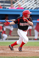 Batavia Muckdogs outfielder Mike O'Neil (26) during a game vs. the Jamestown Jammers at Dwyer Stadium in Batavia, New York July 18, 2010.   Batavia defeated Jamestown 6-1.  Photo By Mike Janes/Four Seam Images
