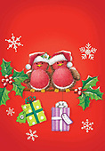 Sharon, CHRISTMAS ANIMALS, WEIHNACHTEN TIERE, NAVIDAD ANIMALES, GBSS, paintings+++++,GBSSC50XFC12,#XA#