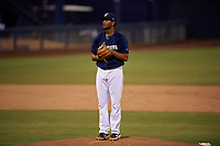 AZL Brewers Blue relief pitcher Pablo Garabitos (29) during an Arizona League game against the AZL Rangers on July 11, 2019 at American Family Fields of Phoenix in Phoenix, Arizona. The AZL Rangers defeated the AZL Brewers Blue 5-2. (Zachary Lucy/Four Seam Images)
