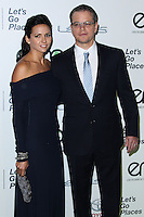 BURBANK, CA - OCTOBER 19: Actor Matt Damon and wife Luciana Barroso arrive at the 23rd Annual Environmental Media Awards held at Warner Bros. Studios on October 19, 2013 in Burbank, California. (Photo by Xavier Collin/Celebrity Monitor)