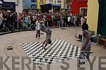 Street entertainment at the Rose of Tralee Festival on Saturday.
