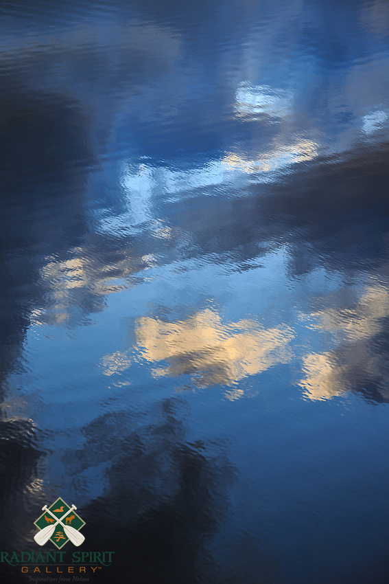 &quot;Painted Clouds II&quot;<br /> <br /> The reflection of clouds on a rippled lake is an example of nature's artistic painting.<br /> ~ Day 125 of Inspired by Wilderness: A Four Season Solo Canoe Journey