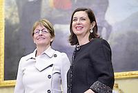 Roma, 30 Marzo 2015<br /> La Presidente della Camera Laura Boldrini, incontra Anne Brasseur, Presidente dell'Assemblea Parlamentare del Consiglio d'Europa