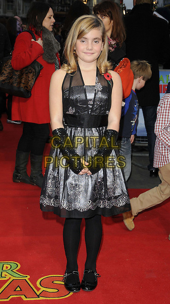 Ramona Marquez.UK Premiere of 'Arthur Christmas' at the Empire, Leicester Square, London, England..November 6th 2011.full length black sheer dress gloves tights.CAP/CAN.©Can Nguyen/Capital Pictures.