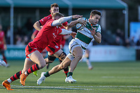 Seb STEGMANN of Ealing Trailfinders Match action during the Greene King IPA Championship match between Ealing Trailfinders and Jersey Reds at Castle Bar , West Ealing , England  on 22 December 2018. Photo by David Horn.