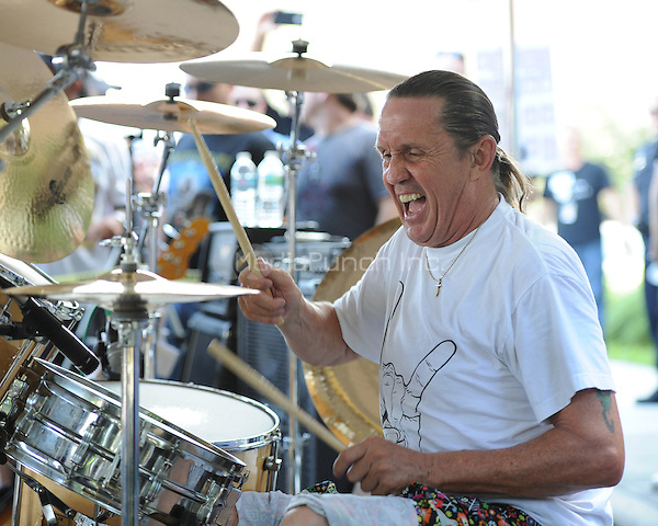 COCONUT CREEK, FL - OCTOBER 13 : Nicko McBrain of Iron Maiden performs at his Restaurant Rock N Roll Ribs on October 13, 2012 in Coconut Creek , Florida.©mpi04/MediaPunch Inc.