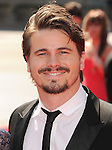 LOS ANGELES, CA - SEPTEMBER 15: Jason Ritter arrives at the 2012 Primetime Creative Arts Emmy Awards at Nokia Theatre L.A. Live on September 15, 2012 in Los Angeles, California.