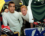 Albertz and Van Bronckhorst in Adidas promo, Greaves Sport Glasgow