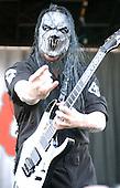 Slipknot Performs on Ozzfest 2005 for The Subliminal Verses World Tour (2004–2005).(#7) Mick Thomson – guitars .Photo Credit: Eddie Malluk/AtlasIcons.com