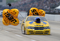 Apr. 28, 2013; Baytown, TX, USA: NHRA pro stock driver Jeg Coughlin during the Spring Nationals at Royal Purple Raceway. Mandatory Credit: Mark J. Rebilas-