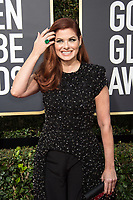 Debra Messing arrives at the 75th Annual Golden Globes Awards at the Beverly Hilton in Beverly Hills, CA on Sunday, January 7, 2018.<br /> *Editorial Use Only*<br /> CAP/PLF/HFPA<br /> &copy;HFPA/PLF/Capital Pictures