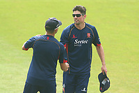 Alastair Cook of Essex shakes hands with Aaron Beard during Essex CCC vs Warwickshire CCC, Specsavers County Championship Division 1 Cricket at The Cloudfm County Ground on 20th June 2017
