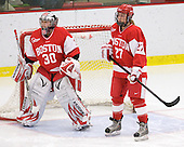 Alissa Fromkin (BU - 30), Tara Watchorn (BU - 27) - The Northeastern University Huskies defeated the Boston University Terriers in a shootout after being tied at 4 following overtime in their Beanpot semi-final game on Tuesday, February 2, 2010 at the Bright Hockey Center in Cambridge, Massachusetts.