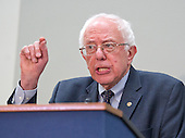 United States Senator Bernie Sanders (Independent of Vermont), a candidate for the Democratic nomination to be President of the United States, makes remarks as he hosts a Conference on the Greek debt crisis in the Hart Senate Office Building in Washington, DC on Thursday, July 30, 2015. <br /> Credit: Ron Sachs / CNP