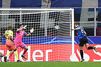 6th November 2019, Milan, Italy; UEFA Champions League football, Atalanta versus Manchester City; Mario Pasalic of Atalanta BC scores the goal for 1-1 past keeper Bravo in the 49th minute