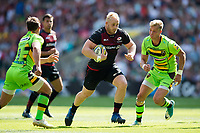 Vincent Koch of Saracens goes on the attack. Aviva Premiership match, between Saracens and Northampton Saints on September 2, 2017 at Twickenham Stadium in London, England. Photo by: Patrick Khachfe / JMP