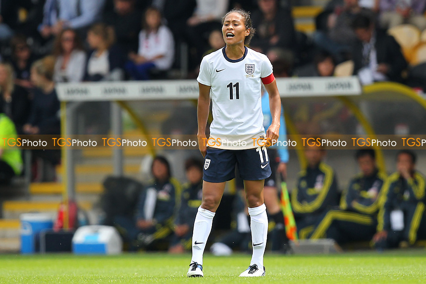 England captain Rachel Yankey shouts instructions - England Women vs Japan Women - Friendly Football International at the Pirelli Stadium, Burton Albion FC - 26/06/13 - MANDATORY CREDIT: Gavin Ellis/TGSPHOTO - Self billing applies where appropriate - 0845 094 6026 - contact@tgsphoto.co.uk - NO UNPAID USE