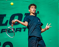 Hilversum, Netherlands, August 6, 2018, National Junior Championships, NJK, Zacharias Alpassa (NED)<br /> Photo: Tennisimages/Henk Koster