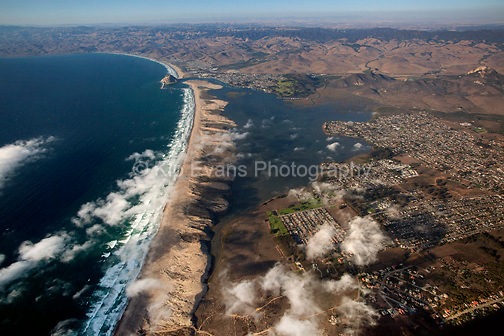 Aerial view of Morro Bay looking north.