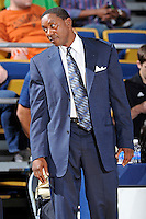 12 January 2012:  FIU Basketball Head Coach Isiah Thomas reacts to a call in the second half as the Middle Tennessee State University Blue Raiders defeated the FIU Golden Panthers, 70-59, at the U.S. Century Bank Arena in Miami, Florida.