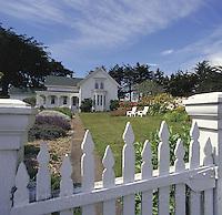 The Joshua Grindell Inn, a bed and breakfast inn in Mendocino, CA.  CD scan from 35mm chrome.  © John Birchard