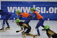 SCHAATSEN: DORDRECHT: Sportboulevard, Korean Air ISU World Cup Finale, 11-02-2012, Relay Ladies, Sanne van Kerkhof NED (146), Jorien ter Mors NED (144), ©foto: Martin de Jong