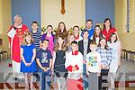 292925-2931<br />CHOIR: Pupils from Lyreacrompane NS who sang at the 100year celebration mass of The Scared Heart Church, Lyreacrompane Church on Sunday. Ellie Shanahan, Jake Shanahan, Conor Shanahan, Hannah Murphy, Katie Murphy, Aydah Naughton,,Lucy-Jane O'Regan, Daniel Brosnan, Anna Fahy, Darragh Long, Caoimhe Nolan, Mike Keane and Grace O'Regan, Teachers Eilish Lyons and Paul O&rsquo;Callaghan and Fr Pat Moore PP.