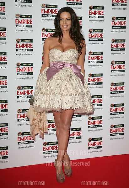 Nikolina Pisek arriving for the Jameson Empire Awards 2011, Grosvenor House Hotel, London. 27/03/2011  Picture by: Alexandra Glen / Featureflash