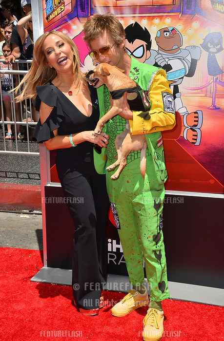 Tara Strong &amp; Greg Cipes at the premiere for &quot;Teen Titans Go! to the Movies&quot; at the TCL Chinese Theatre, Los Angeles, USA 22 July 2018<br /> Picture: Paul Smith/Featureflash/SilverHub 0208 004 5359 sales@silverhubmedia.com