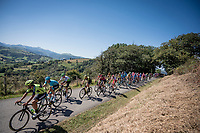 peloton crossing the Basque Country<br /> <br /> Stage 11: Saint-Palais to Urdax-Dantxarinea (180km in The Basque Country > FRA & ESP) <br /> La Vuelta 2019<br /> <br /> ©kramon