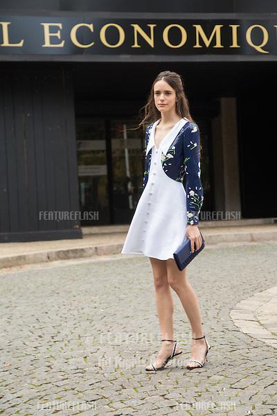 Stacy Martin attend Miu Miu Show Front Row - Paris Fashion Week  2016.<br /> October 7, 2015 Paris, France<br /> Picture: Kristina Afanasyeva / Featureflash