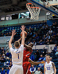 January 11, 2017:  First half action during the NCAA basketball game between the Fresno State Bulldogs and the Air Force Academy Falcons, Clune Arena, U.S. Air Force Academy, Colorado Springs, Colorado.  Air Force defeats Fresno State 81-72.