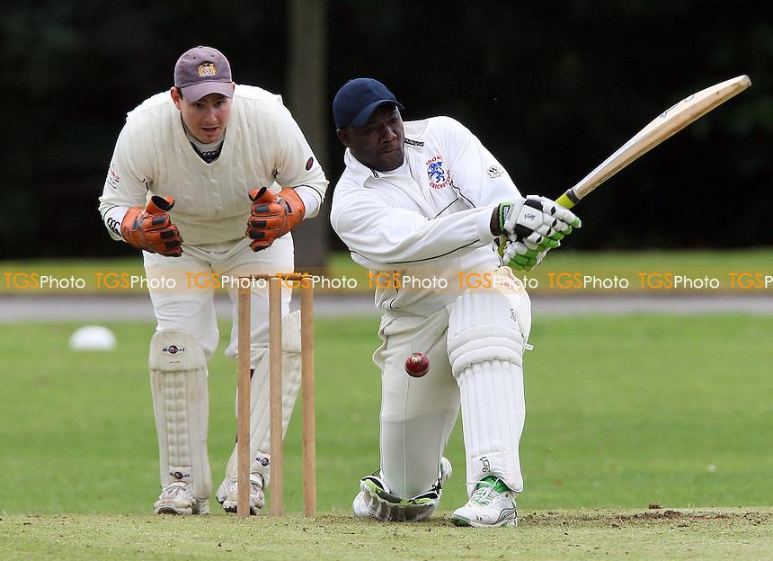 A Wallcott in batting action for Leyton - Hornchurch Athletic CC vs Leyton County CC - Lords International Cricket League at Hylands Park - 12/07/08 - MANDATORY CREDIT: Gavin Ellis/TGSPHOTO - Self billing applies where appropriate - Tel: 0845 094 6026.
