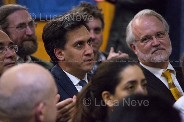 (From L to R) Ed Miliband MP (British Labour Party Member of Parliament for Doncaster North; former Leader of the British Labour Party and Leader of the Opposition between 2010 and 2015) &amp; Prof. Craig Calhoun (American sociologist and Director of LSE).<br /> <br /> London, 01/06/2015. Today, the LSE (London School of Economics and Political Studies) a public lecture - part of the Ralph Miliband Programme &quot;War and Peace&quot; lecture series - called &quot;The Rise of China and its Impact on the Future Global Order&quot; hosted by Kevin Rudd (Australian Politician; he was twice Prime Minister of Australia, from 2007 to 2010, and again in 2013; former Leader of the Australian Labor Party; in February 2014, he was named a Senior Fellow with John F. Kennedy School of Government at Harvard University; in December 2014, he became a Senior Advisor with the political risk consulting firm Eurasia Group; he is President of the Asia Society Policy Institute in New York, ASPI, a &quot;think-do tank&quot; dedicated to second track diplomacy to assist governments and businesses on policy challenges within Asia, and between Asia, the US and the West). Chair of the event was Robin Archer (Associate Professor in Political Sociology and Director of the Ralph Miliband Programme at LSE).<br /> <br /> Here there is the link to the podcast to listen the lecture: http://bit.ly/1AMgX6t