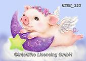Kayomi, CUTE ANIMALS, LUSTIGE TIERE, ANIMALITOS DIVERTIDOS, paintings+++++,USKH353,#ac#, EVERYDAY ,pig,pigs