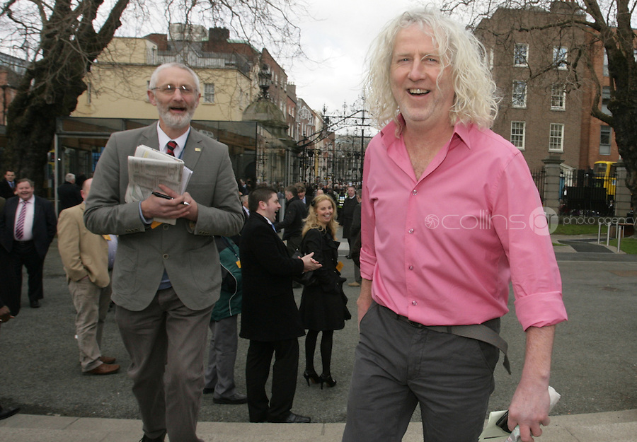 09/03/2011.Independent TD Mick Wallace.during the 1st day of the 31st Dail.at Leinster House,  Dublin..Photo: Gareth Chaney Collins
