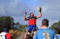 Action from the Manawatu senior B rugby union match between Bush and Massey Rams at Bush Multisport Park in Pahiatua, New Zealand on Saturday, 11 July 2020. Photo: Dave Lintott / lintottphoto.co.nz