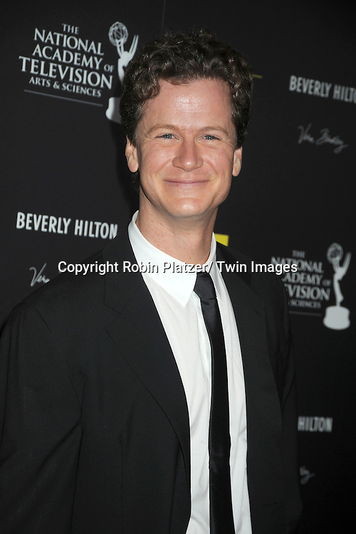Jonathan Mangum attends the 39th Annual Daytime Emmy Awards on June 23, 2012 at the Beverly Hilton in Beverly Hills, California. The awards were broadcast on HLN.