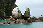 New Zealand, South Island: Split Apple Rock land form along the Abel Tasman National Park coast. Photo copyright Lee Foster. Photo # newzealand125081