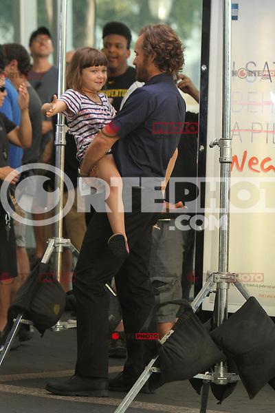 July 31,  2012 Ramona Sarsgaard and Peter Sarsgaard on location for Very Good Girls at the NY Waterway in New York City. &copy; RW/MediaPunch Inc. /NORTEPHOTO*COM*<br /> <br /> **SOLO*VENTA*EN*MEXICO**<br /> **CREDITO*OBLIGATORIO** <br /> *No*Venta*A*Terceros*<br /> *No*Sale*So*third*<br /> *** No Se Permite Hacer Archivo**