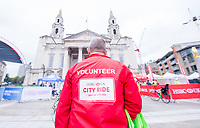 Picture by Allan McKenzie/SWpix.com - 10/09/17 - Commercial - Cycling - HSBC UK City Ride Leeds - Leeds, England - HSBC UK, City Ride, branding, volunteer.