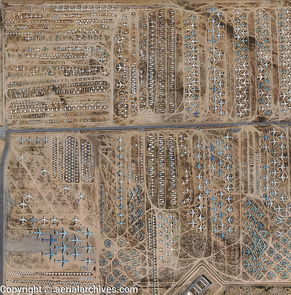 Aerial Photo Map Military Aircraft Boneyard Davis Monthan