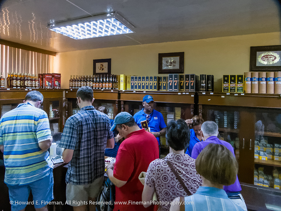 Cuban cigar and rum factory store