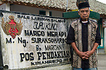 Mbah Maridjan's last know coordinates were his home/office/shrine at Kinahredjo village, high on the slopes of Mount Merapi. Appointed by the 9th Sultan of Yogyakarta to keep the volcano in check, Mbah Maridjan took his job seriously and was considered a local and national hero.