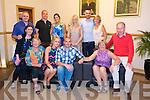 Louise Quill and Declan O'Connor who got engaged from Glen Ard, Monavalley, celebrate with family at Kerins O'Rahilly's on Friday.  Front left to right, Sinead O'Connor, Joan O'Connor, Louise Quill, Derek O'Connor, Pamela Quill, Francis Quill.  Back row left to right, Tony O'Connor, Declan Quill, Erica Quill, Caroline Quill, Fergal Quill, Maureen Murphy