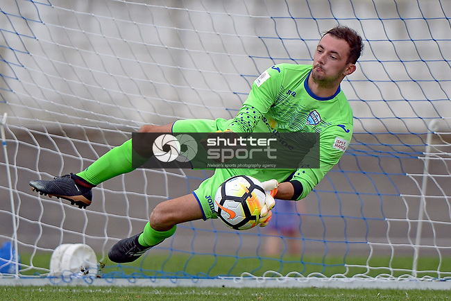 NELSON, NEW ZEALAND January 7: ISPS Handa Premiership, Nelson United v Canterbury United Dragons, Trafalgar Park, Nelson, New Zealand, January 7, 2018 (Photo by: Barry Whitnall Shuttersport Limited)