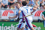 Krefeld, Germany, May 19: During the Final4 Gold Medal fieldhockey match between Uhlenhorst Muelheim and Mannheimer HC on May 19, 2019 at Gerd-Wellen Hockeyanlage in Krefeld, Germany. (worldsportpics Copyright Dirk Markgraf) *** Gonzalo Peillat #2 of Mannheimer HC, Tin Nguyen Luong #7 of Mannheimer HC